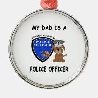 Mein Polizei-Vati Silbernes Ornament