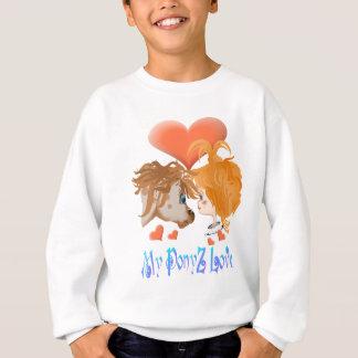 Mein PonyZ Liebe-mit Buchstaben gekennzeichnetes Sweatshirt