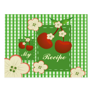 Mein Rezept-Kirschflecken Postkarte
