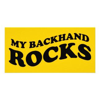 Mein Rückhandschlag schaukelt Tennis-Fotokarte Photo Karten Vorlage