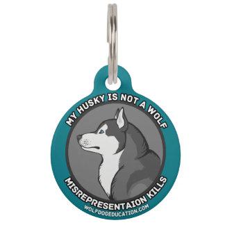 Mein Schlittenhund ist nicht ein Wolf Haustiermarke