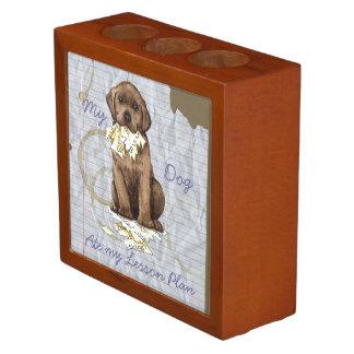 Mein Schokoladen-Labrador aß meinen Lektions-Plan Stifthalter