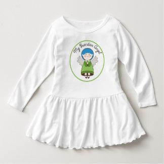 Mein Schutzengel-blaues Haar-Grün-Kleid Kleid