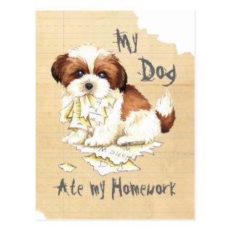 Mein Shih Tzu aß meine Hausaufgaben Postkarte