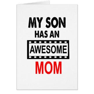 Mein Sohn hat eine fantastische Mamma Karte