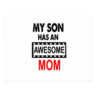 Mein Sohn hat eine fantastische Mamma Postkarte