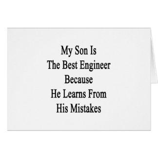 Mein Sohn ist der beste Ingenieur, weil er von Karte