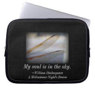 Mein Soul ist in der Himmel-Libellen-Hülse Laptopschutzhülle