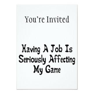 Mein Spiel ernsthaft beeinflussen 12,7 X 17,8 Cm Einladungskarte