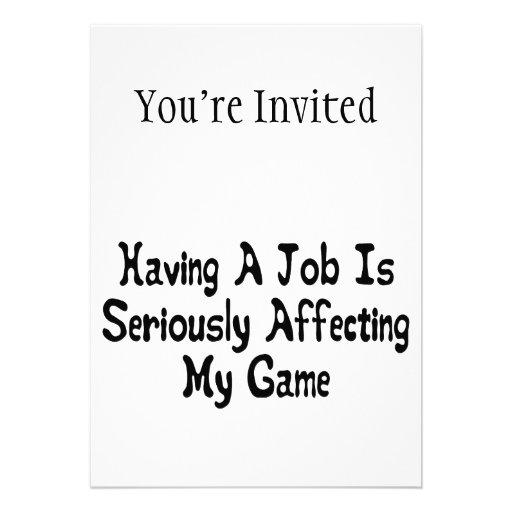 Mein Spiel ernsthaft beeinflussen Ankündigung