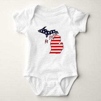 Mein Staat: Michigan-Säuglings-Strampler Baby Strampler