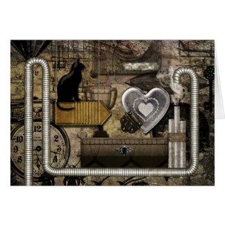 Mein Steampunk Herz Karte