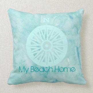 Mein Strand-Zuhausewatercolor-Kissen Kissen