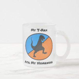 Mein T-Rex aß meine Hausaufgaben Mattglastasse