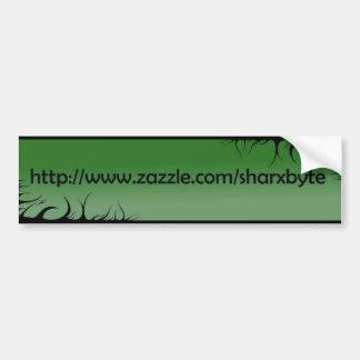 Mein Text URL (Grünes, Schwarzes) Autoaufkleber