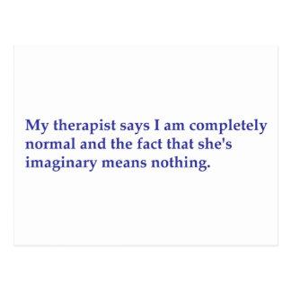 Mein Therapeut sagt Postkarte