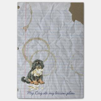 Mein tibetanischer Mastiff aß meinen Post-it Klebezettel
