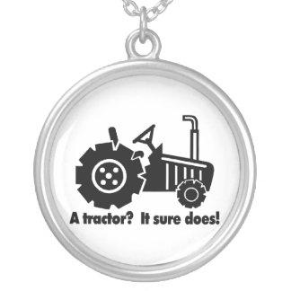 Mein Traktor ist ein Küken-Magnet Versilberte Kette