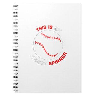 Mein Unruhe-Spinner-Softball-Baseball-lustiges Notizblock