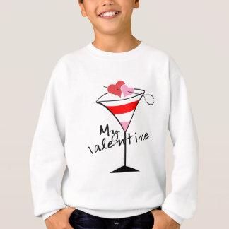 Mein Valentinsgruß-Herz-Martini-Entwurf Sweatshirt