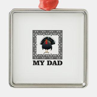 mein Vater der Truthahn Silbernes Ornament