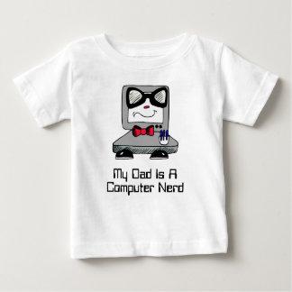 Mein Vati ist ein Computer-Nerdgeek-Shirt für Baby T-shirt
