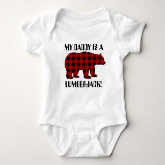 Mein Vati ist ein Holzfällerunisexbaby-T - Shirt