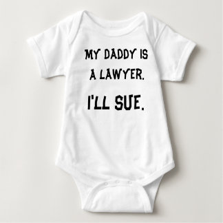 Mein Vati ist ein Rechtsanwalt Baby Strampler