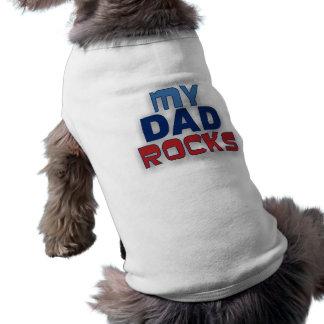 Mein Vati schaukelt Haustier-T - Shirt Ärmelfreies Hunde-Shirt