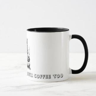 Mein Vati trinkt Kaffee auch Tasse