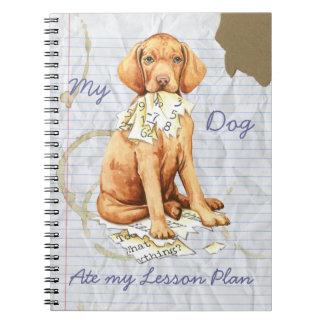 Mein Vizsla aß meinen Unterrichtsplan Notizblock