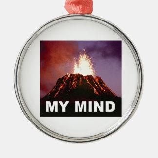 mein Vulkanverstand Silbernes Ornament