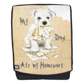 Mein Westie aß meine Hausaufgaben Rucksack