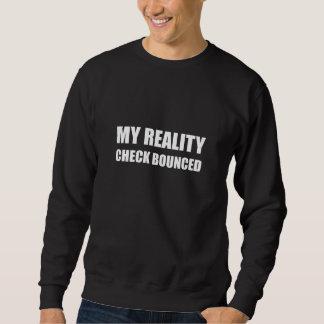 Mein Wirklichkeits-Karo aufgeprallt Sweatshirt