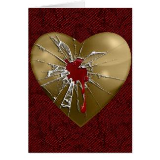 Mein zerbrochenes Herz Karte