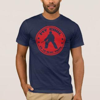 Mein Ziel-Feld-Hockey-Tormann-Zitat-T-Shirt T-Shirt