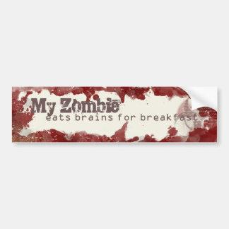 Mein Zombie isst Gehirne für Autoaufkleber