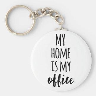 Mein Zuhause ist mein Büro Standard Runder Schlüsselanhänger