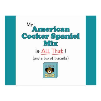 Meine Amerikaner-Cocker spaniel-Mischung ist alle Postkarte