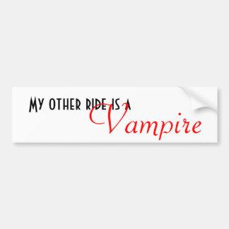Meine andere Fahrt ist a, Vampir Autoaufkleber