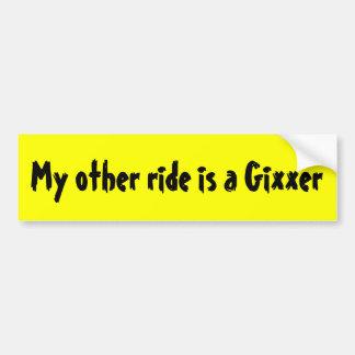 Meine andere Fahrt ist ein Gixxer Autoaufkleber