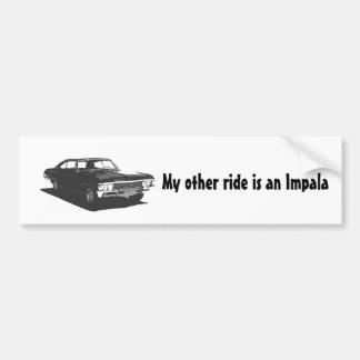 Meine andere Fahrt ist ein Impala Autoaufkleber