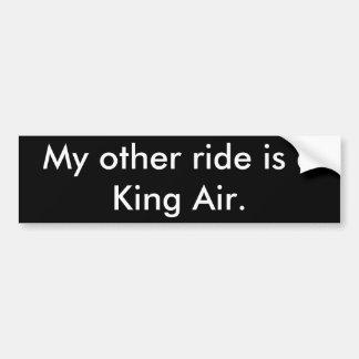 Meine andere Fahrt ist ein König Luft Autoaufkleber