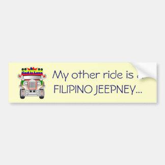 Meine andere Fahrt ist ein philippinischer Jeepney Autoaufkleber