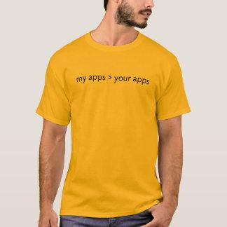 meine apps > Ihre apps (Schwarzes) T-Shirt