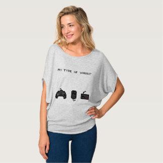 Meine Art der Retro Frau des Trainings Hemden