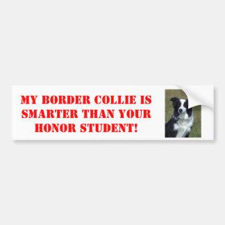 Meine Border-Collie ist intelligenter als Ihre Autoaufkleber