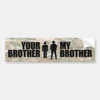 Meine Bruder-Aufschläge im Militär Autoaufkleber