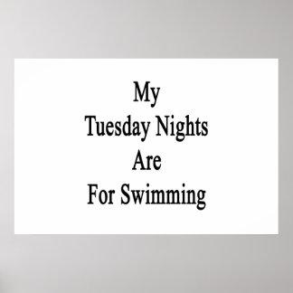 Meine Dienstag-Nächte sind für das Schwimmen Poster