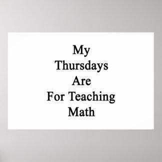 Meine Donnerstage sind für unterrichtendes Mathe Poster